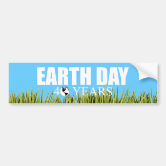 EARTH DAY 40 years Bumper Stickers