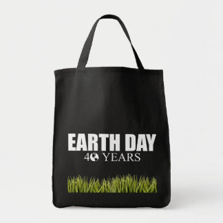 EARTH DAY 40 years Canvas Bags