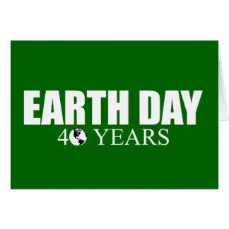 EARTH DAY 40 years Card