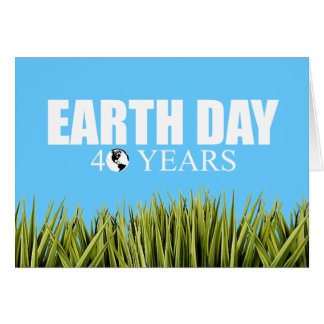 EARTH DAY 40 years Greeting Cards
