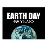 EARTH DAY 40 years Post Card