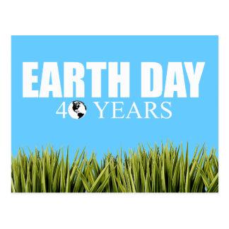 EARTH DAY 40 years Postcard