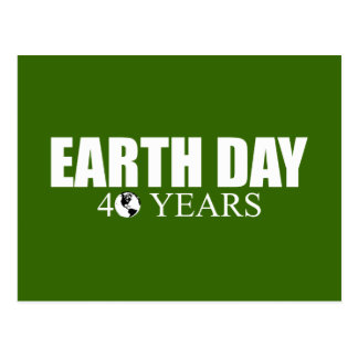 EARTH DAY 40 years Postcards