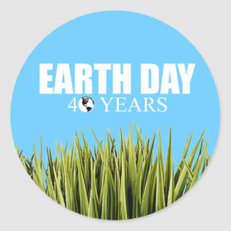 EARTH DAY 40 years Sticker
