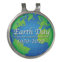 Earth Day 50 Year Anniversary 2020 Golf Hat Clip