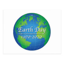Earth Day 50 Year Anniversary 2020 Postcard