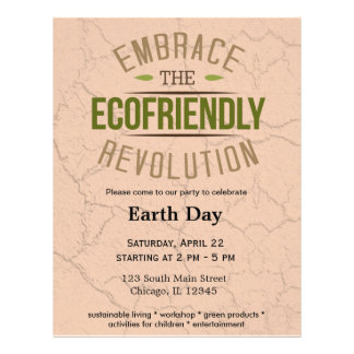 """Earth Day 8.5"""" X 11"""" Flyer"""