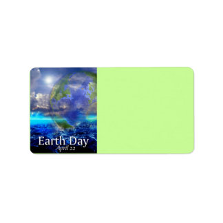 Earth Day Address Label