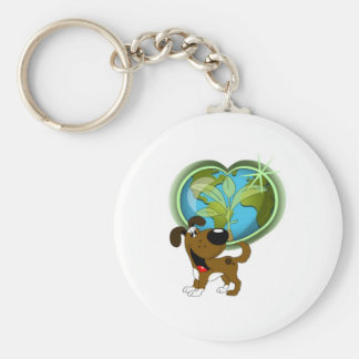 Earth Day and Boots Basic Round Button Keychain