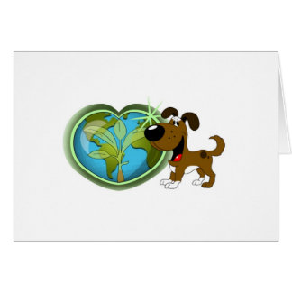 Earth Day and Boots Greeting Card
