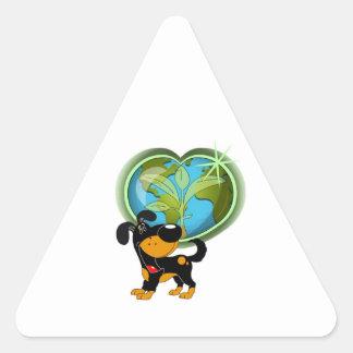 Earth Day and Bubba Triangle Sticker