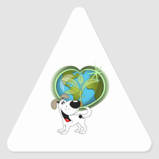 Earth Day and Cutie Triangle Sticker