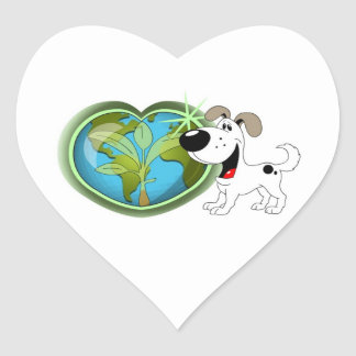 Earth Day and Cutie Heart Sticker