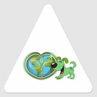 Earth Day and Leaf Triangle Sticker