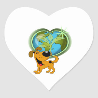 Earth Day and Pumpkin Heart Sticker