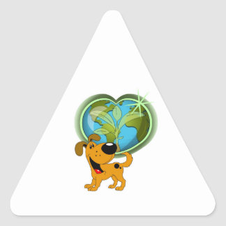 Earth Day and Pumpkin Triangle Sticker