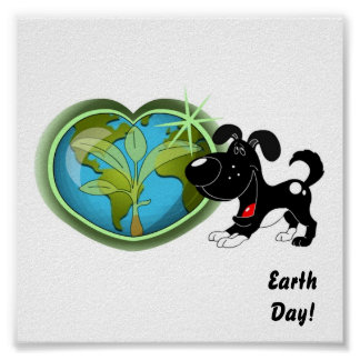 Earth Day and Shadow Poster