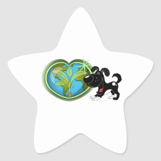 Earth Day and Shadow Star Sticker