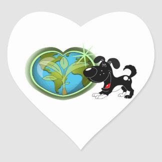 Earth Day and Shadow Heart Sticker