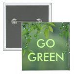 Earth day and think green button