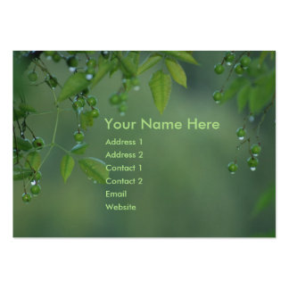 Earth day and think green large business card
