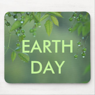 Earth day and think green mouse pad