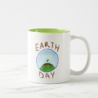 Earth Day Apparel Two-Tone Coffee Mug