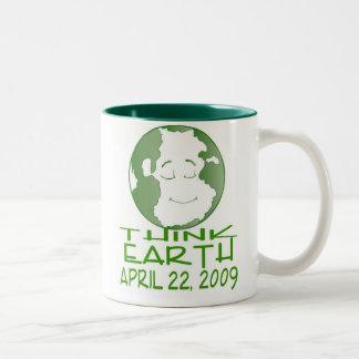 EARTH DAY APRIL 22, 2009 Two-Tone COFFEE MUG
