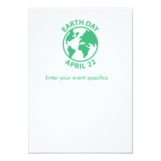 Earth Day, April 22 Card