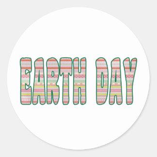 Earth Day April 22 Classic Round Sticker