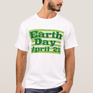 Earth Day April 22 Green USA Flags T-Shirt