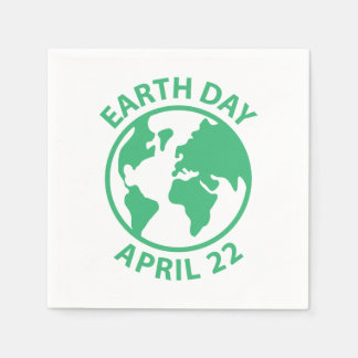 Earth Day, April 22 Paper Napkin