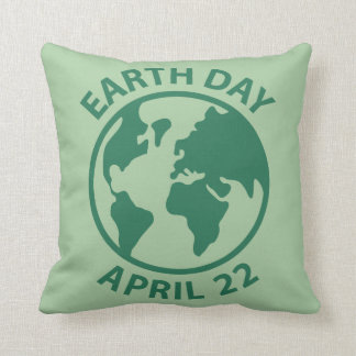 Earth Day, April 22 Throw Pillow