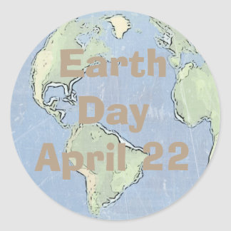 Earth Day April 22nd, Postage Stickers