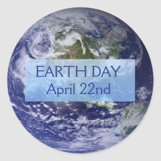 Earth Day April 22nd Stickers