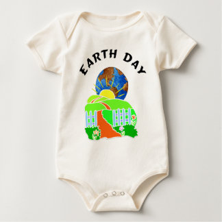 Earth Day At Home Baby Bodysuit