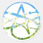 Earth Day Atheist Symbol Classic Round Sticker