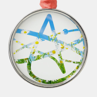 Earth Day Atheist Symbol Metal Ornament