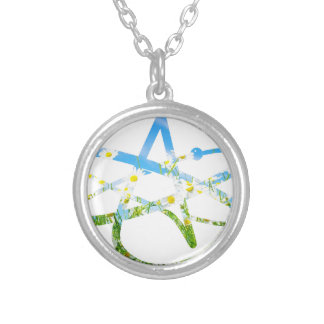 Earth Day Atheist Symbol Round Pendant Necklace
