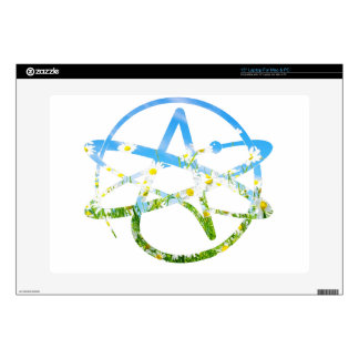 "Earth Day Atheist Symbol Skin For 15"" Laptop"