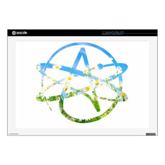 Earth Day Atheist Symbol Laptop Decal