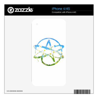 Earth Day Atheist Symbol Skin For iPhone 4S