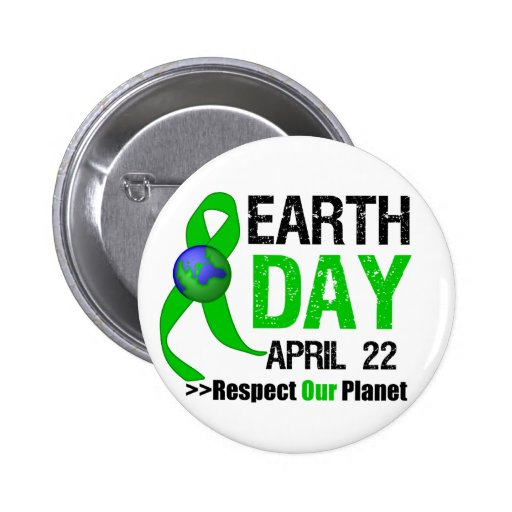 Earth Day Awareness Pinback Button