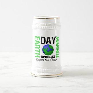 Earth Day Awareness Green Mugs