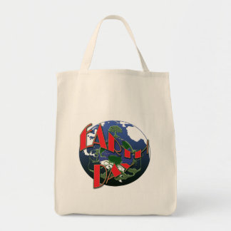 Earth day awareness, organic grocery tote bags