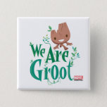 Earth Day Baby Groot Button