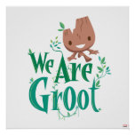 Earth Day Baby Groot Poster