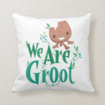 Earth Day Baby Groot Throw Pillow