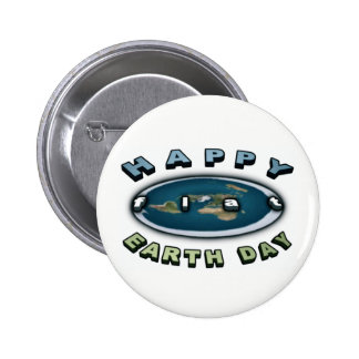 Earth day Badge Happy FLAT earth day Badge Button