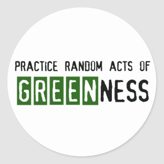 Earth Day - Be Green Classic Round Sticker